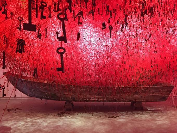 1. Chiharu Shiota (b. 1972, Japan),The Key in the Hand.