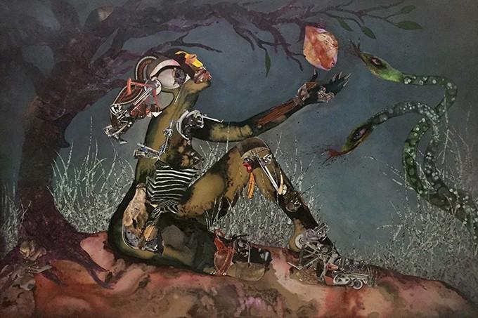 3.Wangechi Mutu (b. 1972, Kenya),Forbidden Fruit Picker, 2015.