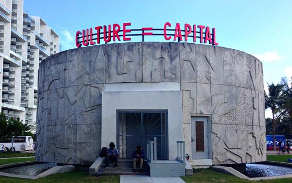 Alfredo Jaar,Culture = Capital, 2014.