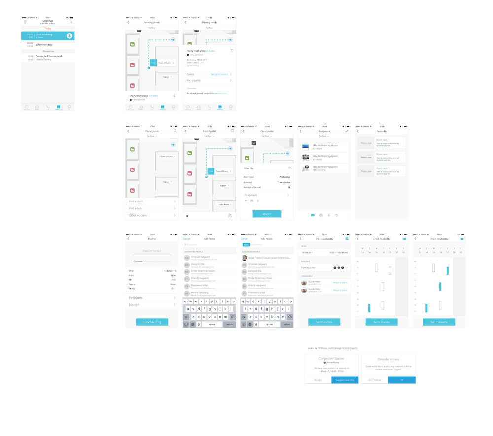 Wireframes and navigation flow