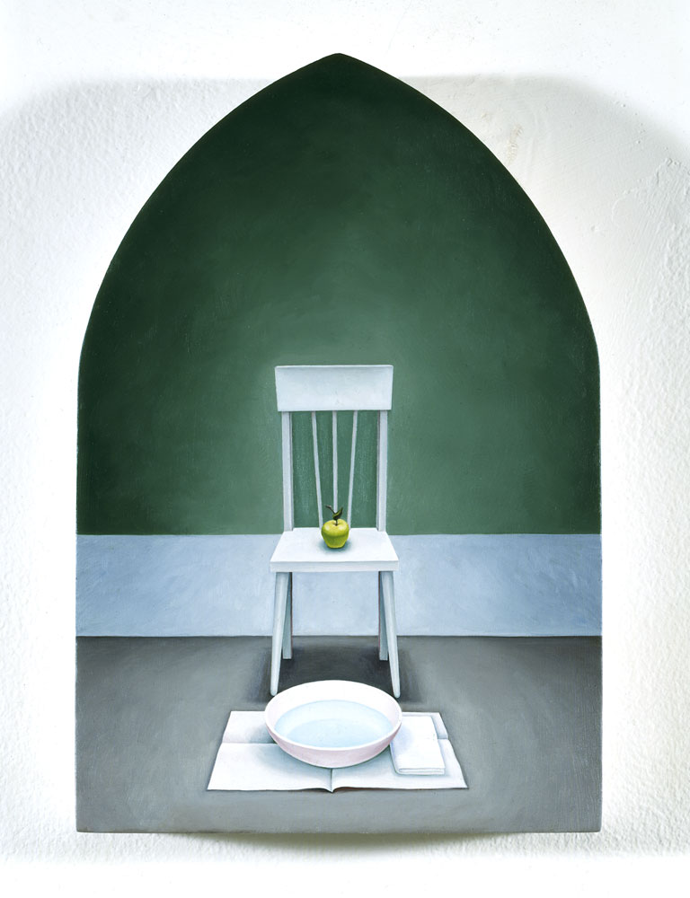 Chair with Green Apple