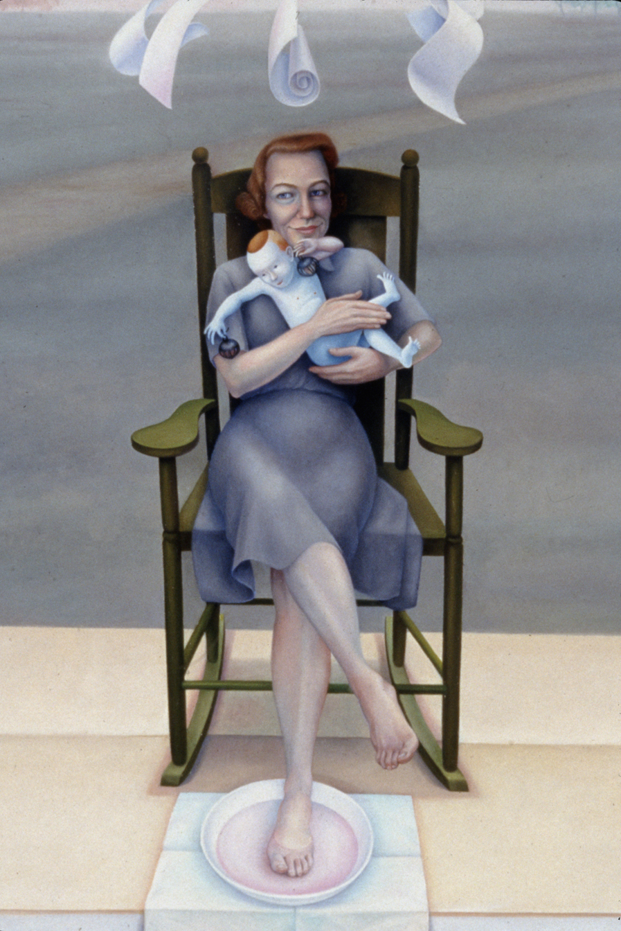 Portrait of Flannery O'Connor - detail 001