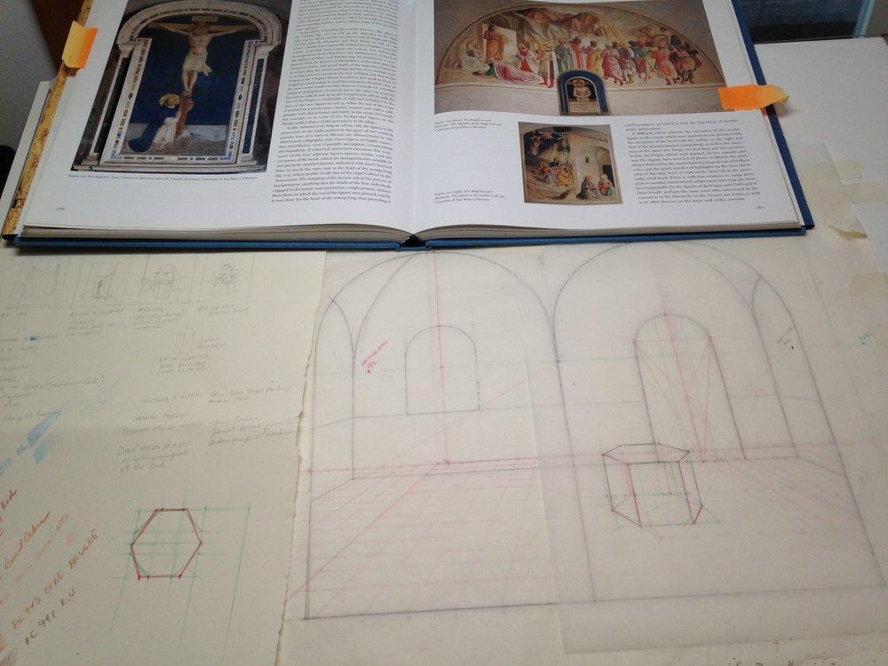 Gift for Fr. Colin Parish (prep sketch) 8.17