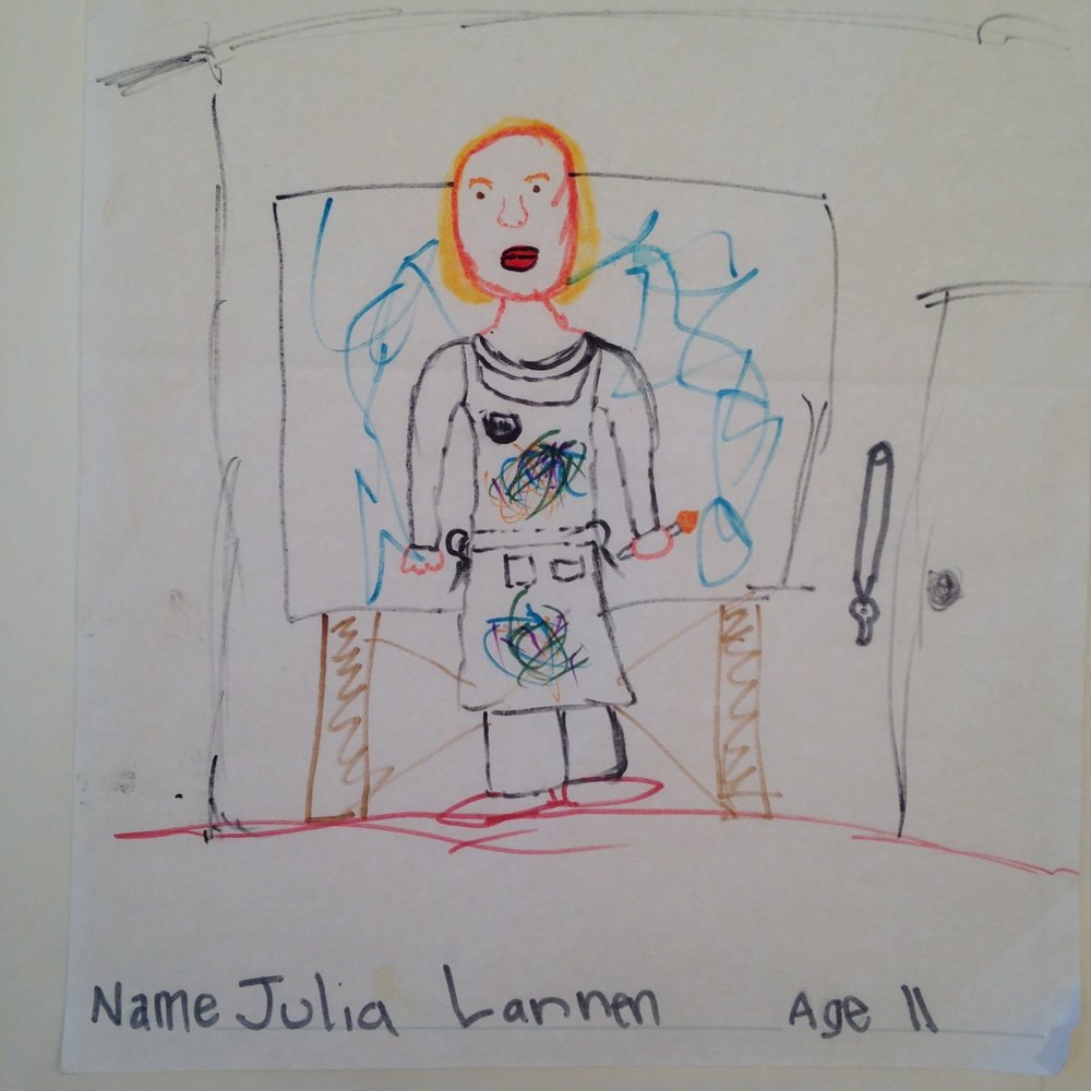 Portrait of me by my South Pasadena neighbor, Julia (1997)