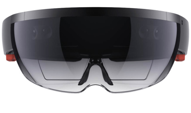 The Microsoft HoloLens was designed to penetrate as many markets as possible, which includes the defense and military sector. (Image courtesy of Microsoft.)