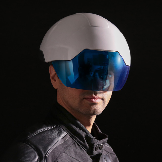 The Intel-powered DAQRI Smart Helmet shown here will have its capabilities pushed forward and tested in more scenarios, as the company recently announced the opening of a research center in Austria. (Image courtesy of DAQRI.)