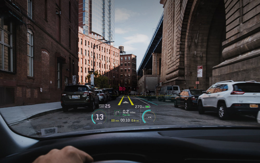 Soon car gages and gadget clusters might be replaced with augmented reality projected on the windshield. This can offer data, such as speed and RPMs, but also directions and warnings about ice or blind turns.