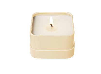 flame vanilla bean travel candle