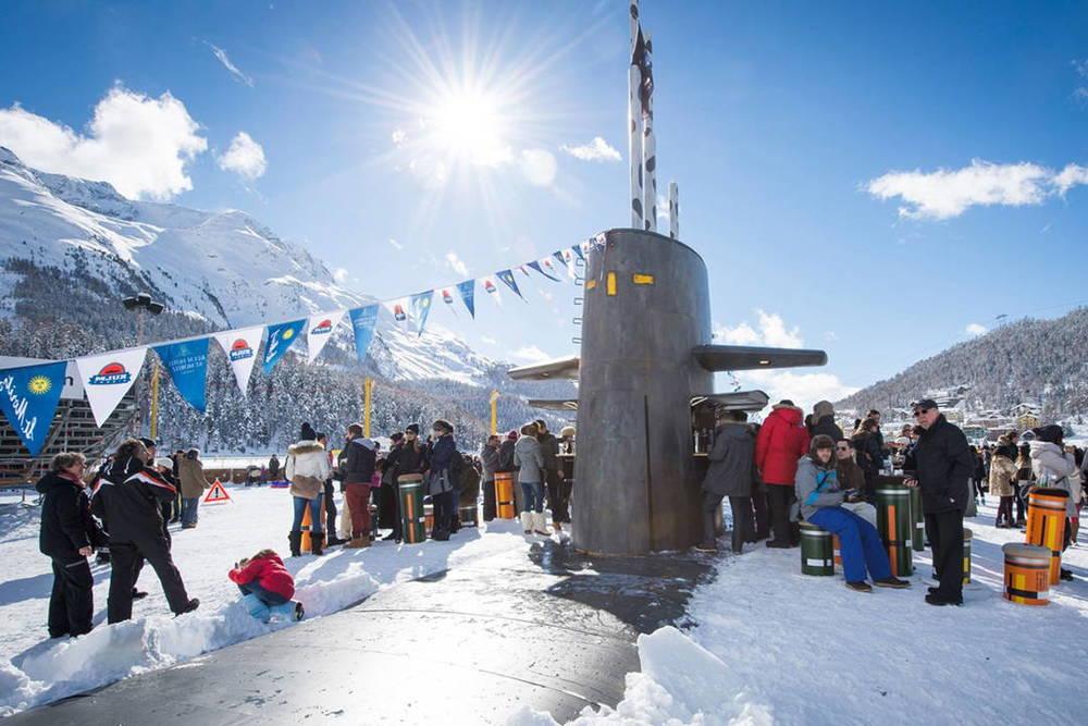 a Submarine coverted to a bar