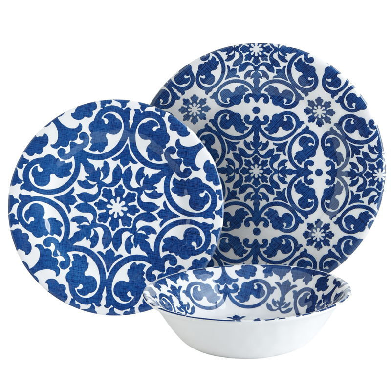 Blue Trellis dinnerware from PIER 1 imports