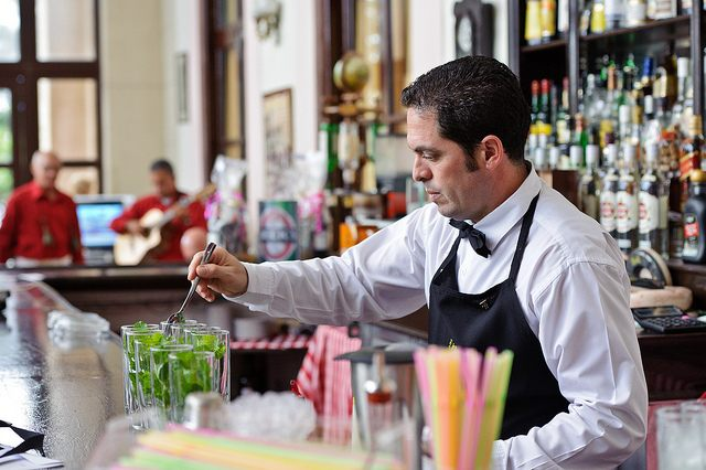 one of the best places to enjoy a Mojito is the Hotel Nacional de Cuba - with with a beautiful view of the harbor