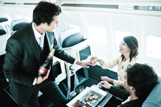 business class cabin service