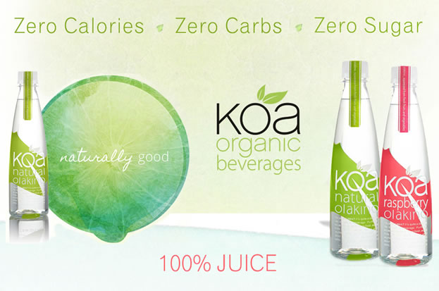 KOA -  made from the NUTRIENTS FOUND WITHIN FRUITS AND VEGETABLES, SIMPLY WITHOUT ANY SUGAR, CALORIES OR CARBS. ALL-NATURAL. NOTHING ADDED.. Zero calories, Zero Carbs, Zero sugar. , koais 100% Juice.