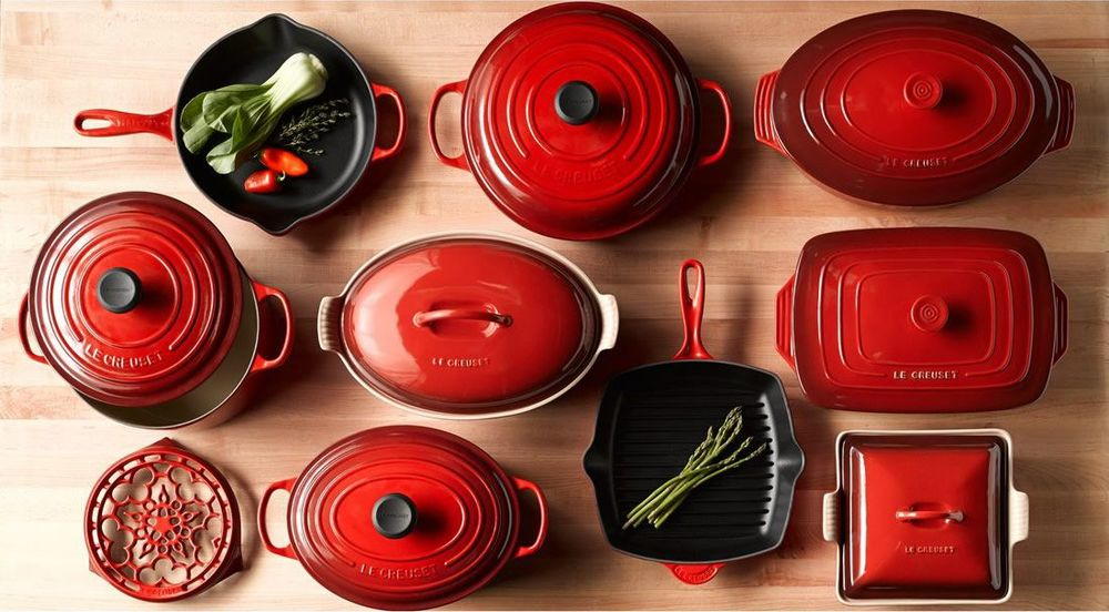 Le Creuset Cookware enameled collection offered by nordstroms.  delivers all of the benefits of cast iron in 8 awesome colors