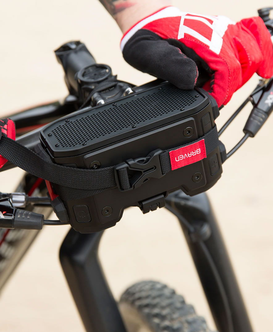 mount the braven pro on your bike, ATV or kayak