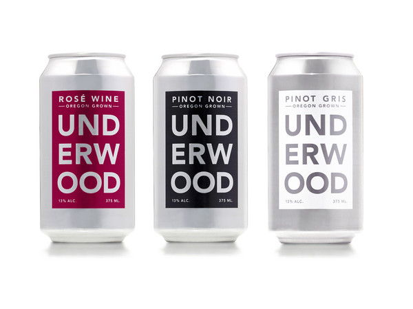 union wine company  canned wines. underwood rose - pinot noir - pinot gris.  The Portland, Oregon-based company believes in wine for  the masses without all the snobbery and fuss.