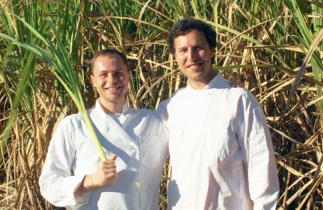 Sourcing sugar cane in Barbados, 2015.  Chief Product Officer Massimiliano    Matté    & CEO Christopher Wirth