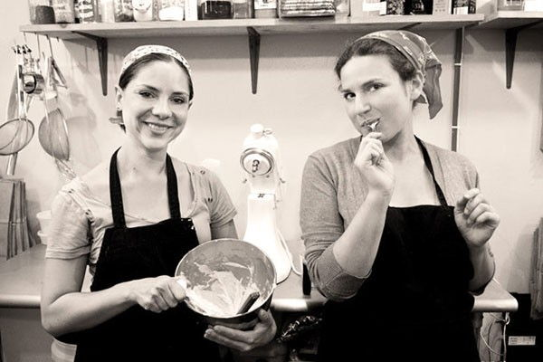mixologist,  Leslie Feinberg  and  chef,  Brooke Siem   created a boozy themed  NYC bakeshop - specializing in booze-spiked, cocktail-flavored artisan cupcakes.