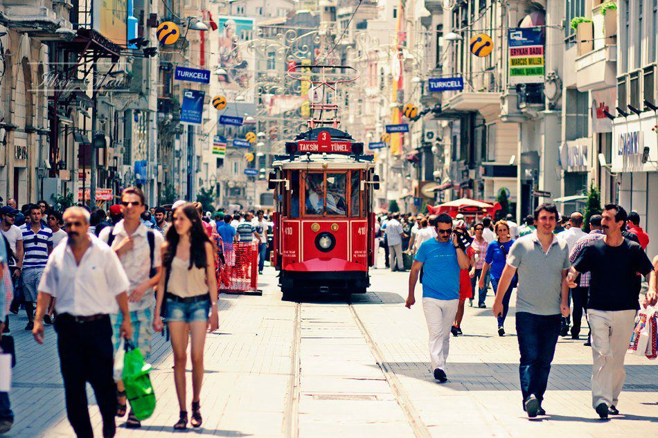 The istiklal street is the heart of the city. it's really crowded has lots of restaurants and cafes. the shopping is excellent, so many shops along the way.  it's a wonderful place to visit especially at night. loads of street entertainment to see.
