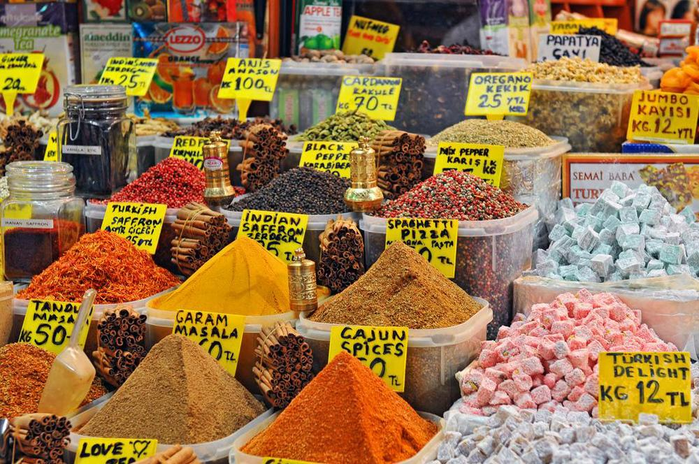 The Spice Market   in  Suleyman  Istanbul is a must see. Located  by the harbor and convenient to ferries on the Bosphorus If you need to bring back spices with you back home they will vacuum seal them for you