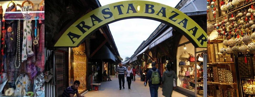 Arasta Bazaar  ranked as   one The Best Bazaars in Istanbul - one stop shopping it has everything for bargain hunters to high-end fashionistas.  from Europe's best brand clothing to world-renowned musical instruments, antiques of yesteryear and one-of-a kind household trinkets can be found here at this bazaar
