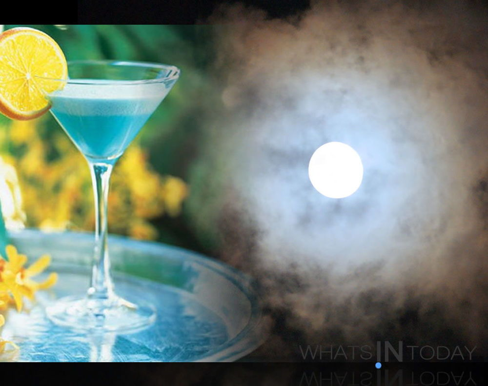 a super Blue Moon Cocktail - Photo by WHAYS IN TODAY Staffer shot watching the last super-moon - for those of you who missed it