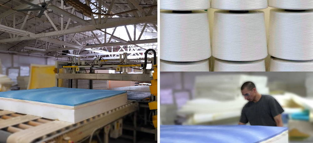 The Fin mattress  handcrafted in a U.S. factory with american pride, know how and ingenuity DELIVERED right to your door