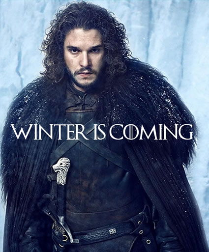 John Snow may or may not be COMING back in the next Game Of Thrones but he knows  Winter is definitely Coming and that means a new round of  colds and the sniffles.