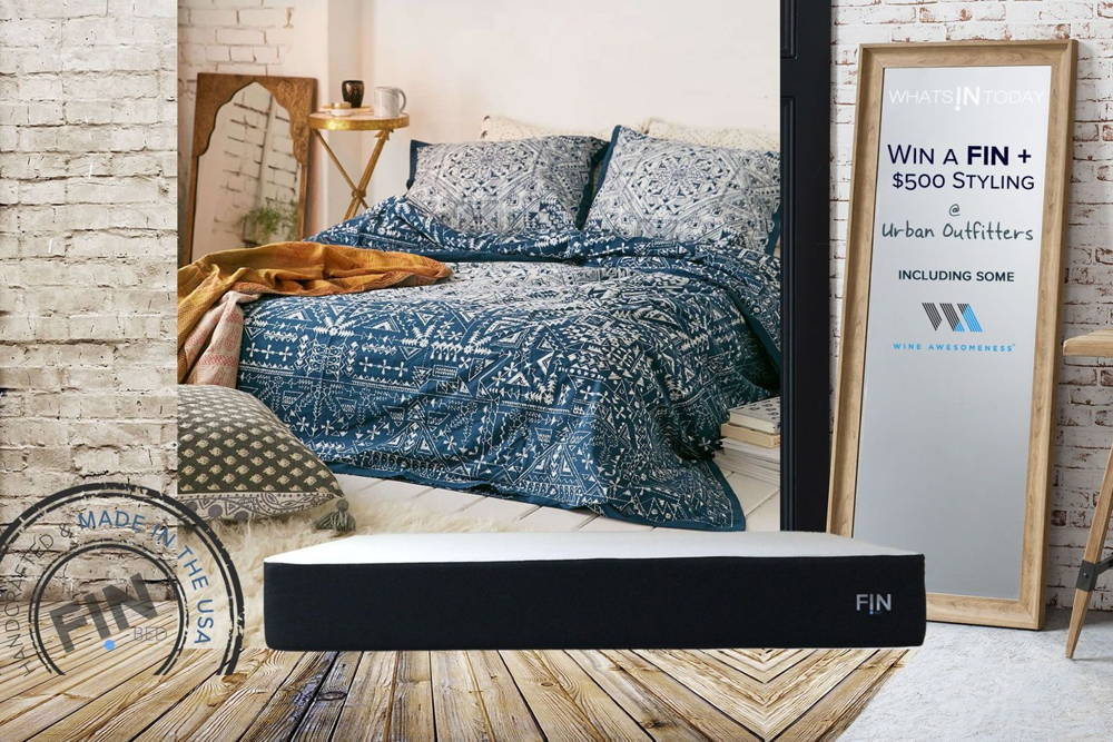 Win the Wake-Up Happy & Style your Room Giveaway worth $2,350. Win a FIN mATTRESS & enjoy the the best sleep ever Plus win a bedroom makeover with a new fin mATTRESS plus STYLING from URBAN outfitters