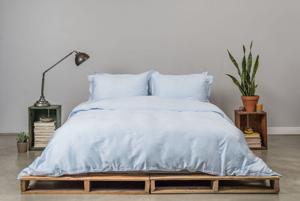 PARACHUTE   Percale bedding is cool and crisp to the touch with a matte finish. Soft, lightweight and stonewashed for a lived-in feel from the start