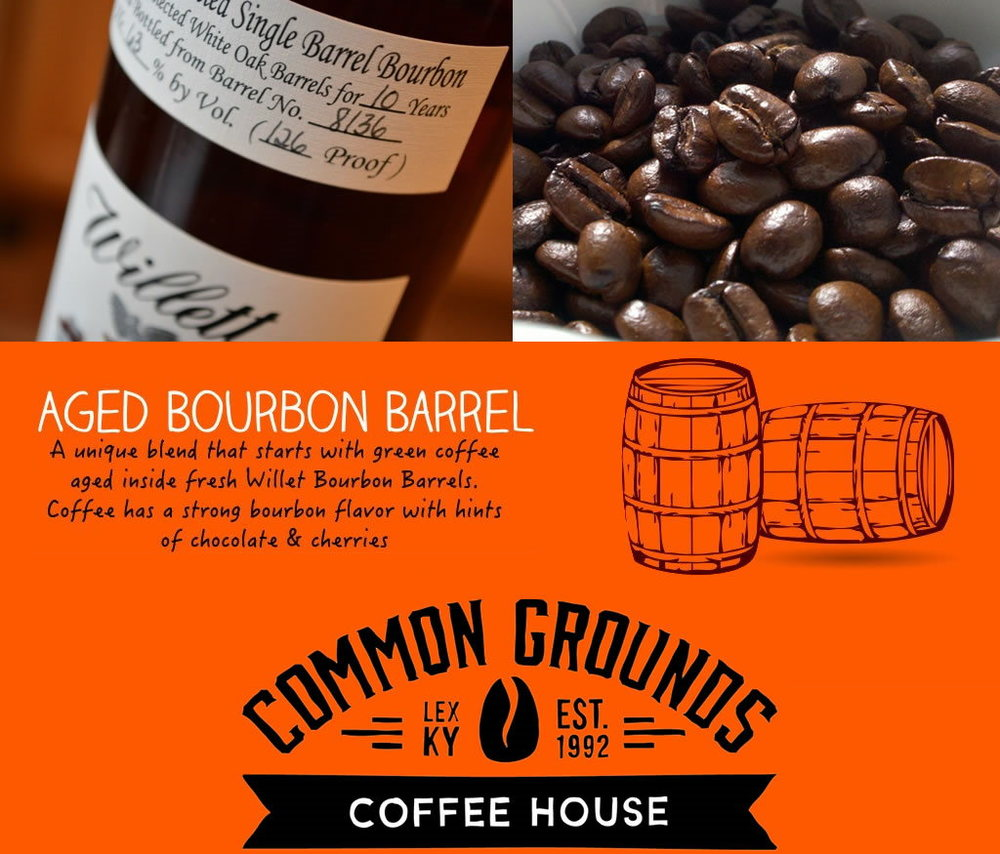 lexington, Kentucky common grounds single barrel bourbon infused coffee