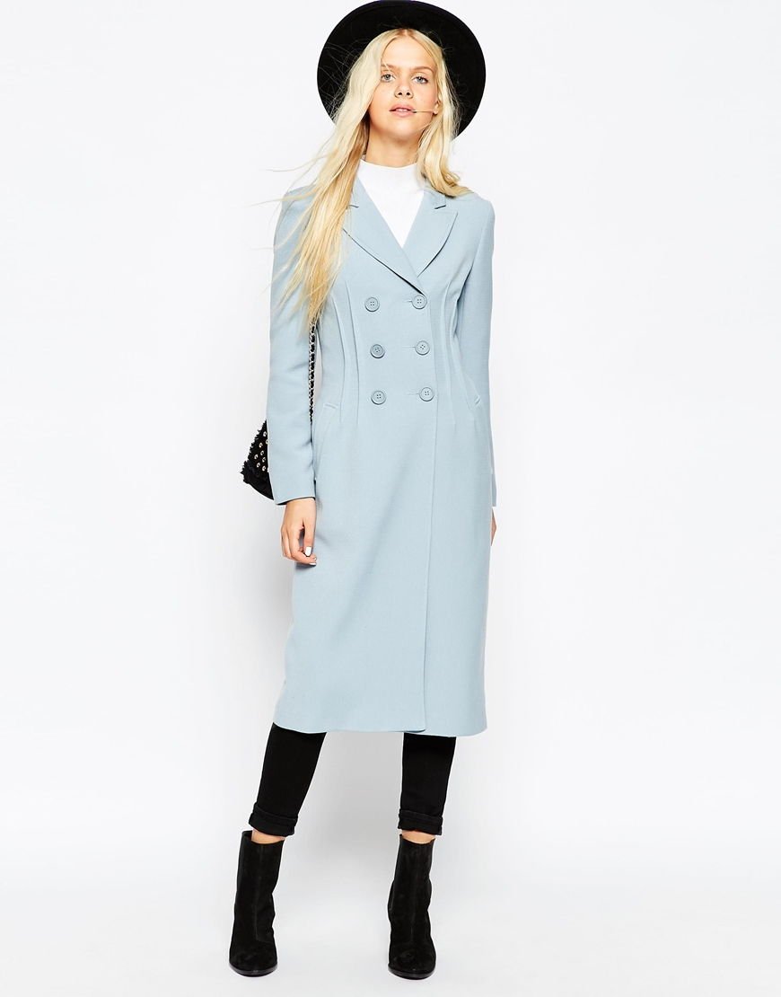ASOS Coat In Tulip Fit With Double Breasted Detail