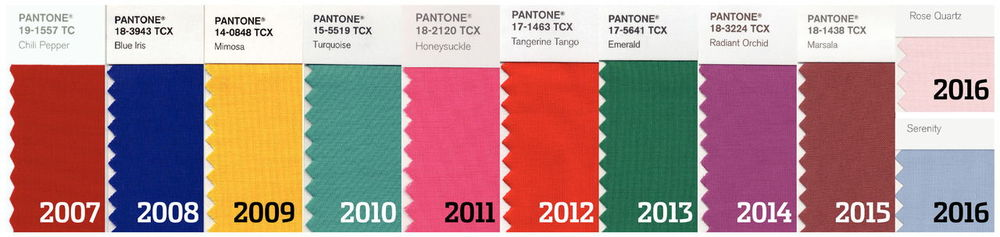 pantone color of the year since 2007 - the FIRST time ta pair of colors have been selected - twin colors