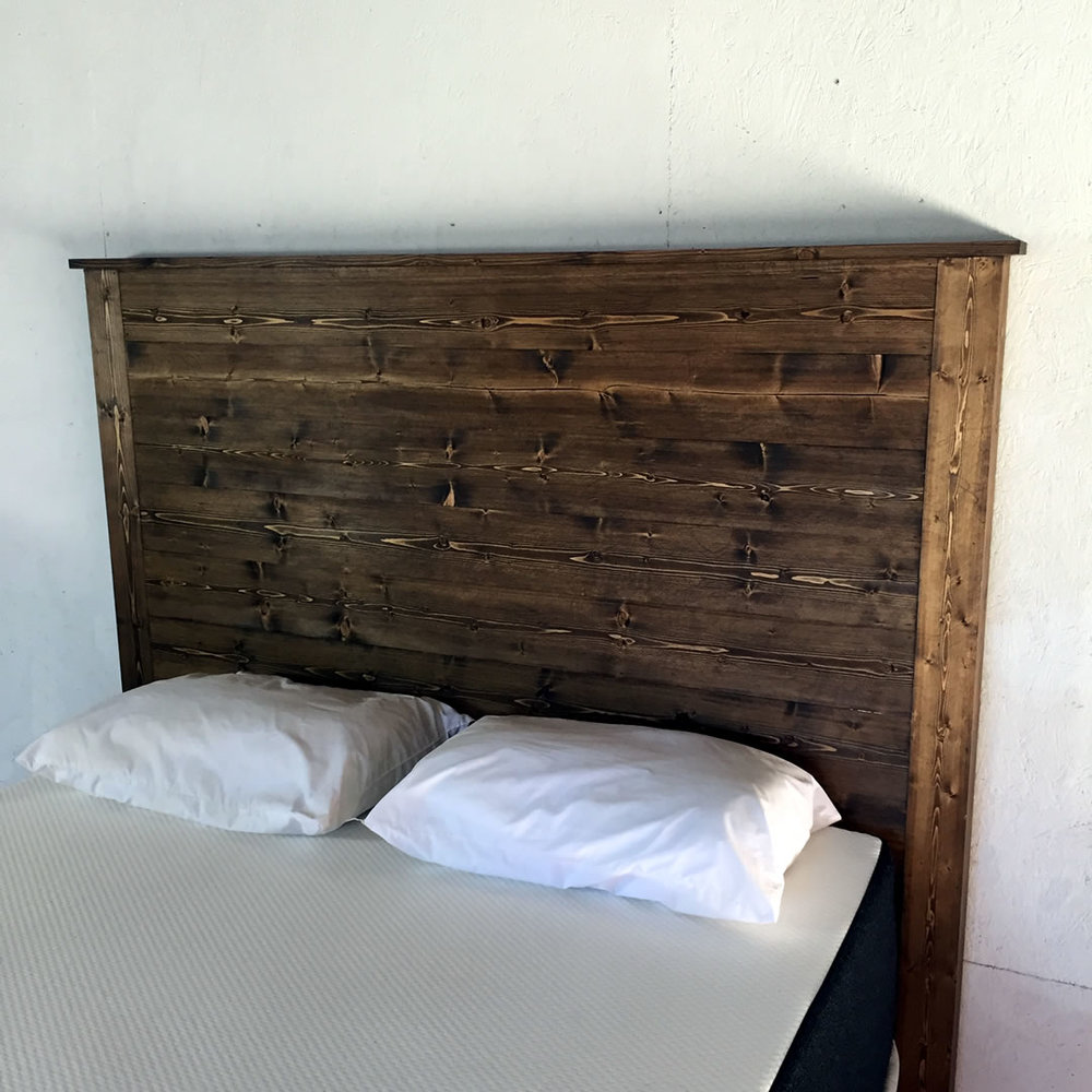 fIn mattress headboard project completed by modern builds