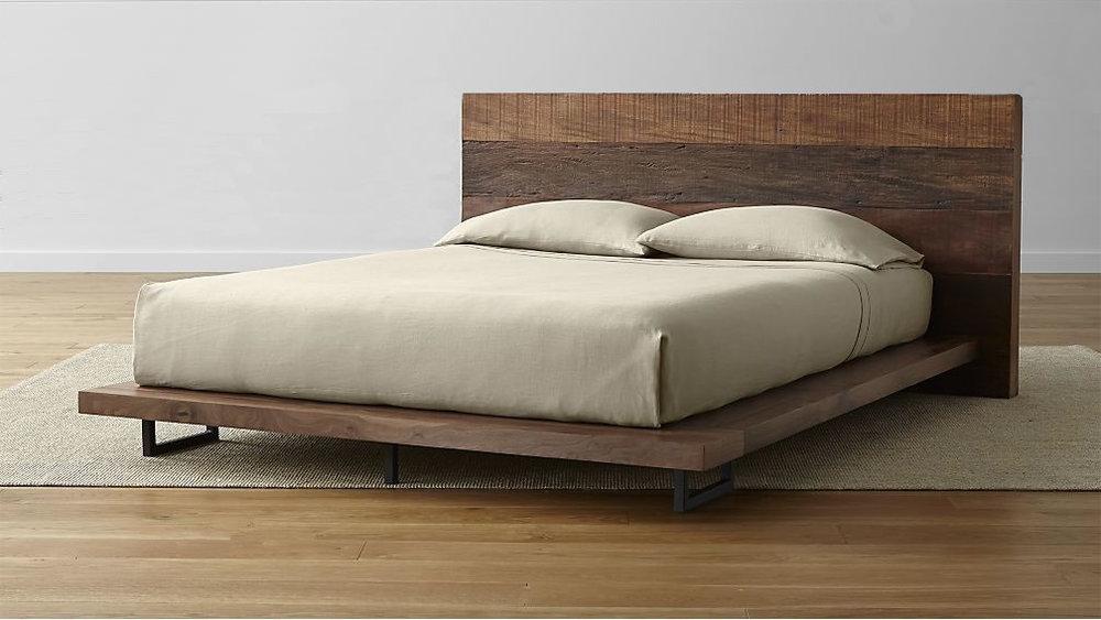 Bed frame available at crateandbarrel.com