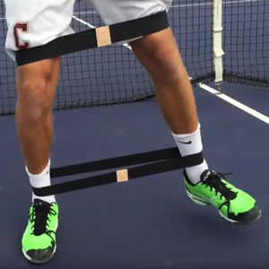 cuatrobands are used on the pro tennis circuitfor agility training and conditioning