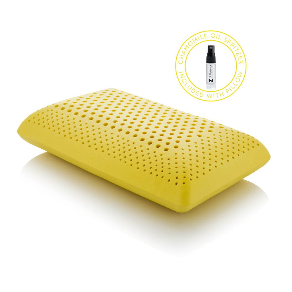 chamomile infused memory foam pillow