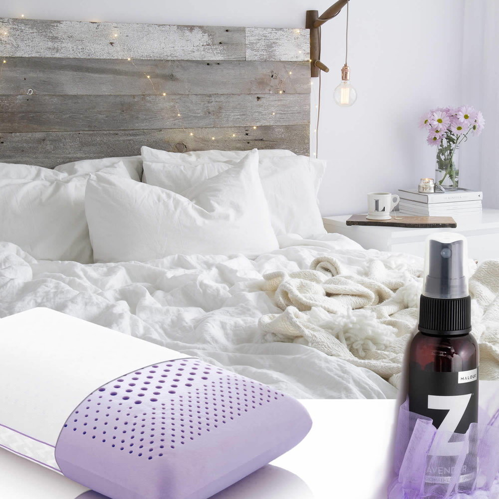 promote sleep relaxation &PERSONALIZE your pillow scent with lavender, PEPPERMINT or chamomile to enhance your sleep environment