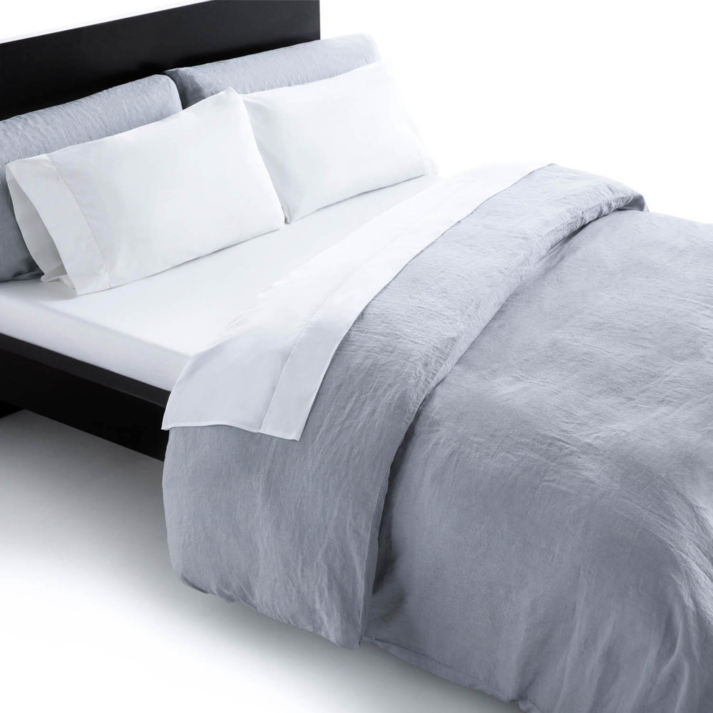 French linen duvet cover will style your bedroom with a casual vintage washed look