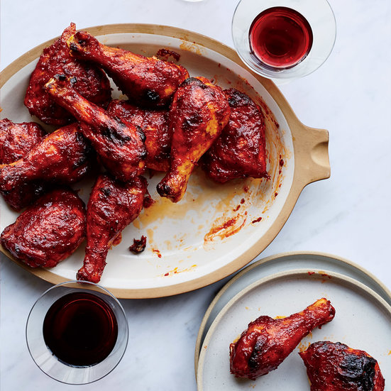 You can make this BBQ sauce ahead of time, and we tried the chicken cold, still amazing.