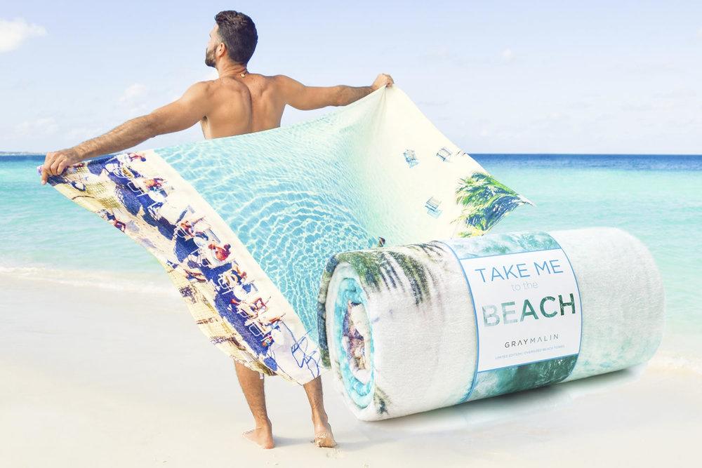 Gray Malin's OVER-SIZED beach towel  fun for summer beach days.