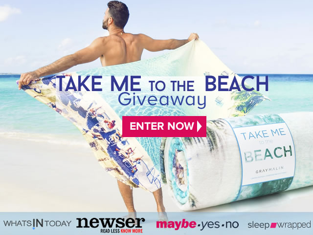 maybe.yesno.com  take me to the beach summer fun giveaway - enter for a chance to win. presented by: whatsintoday.com, newser - read less no more - sleep.wrapped.com and maybe.yes.no