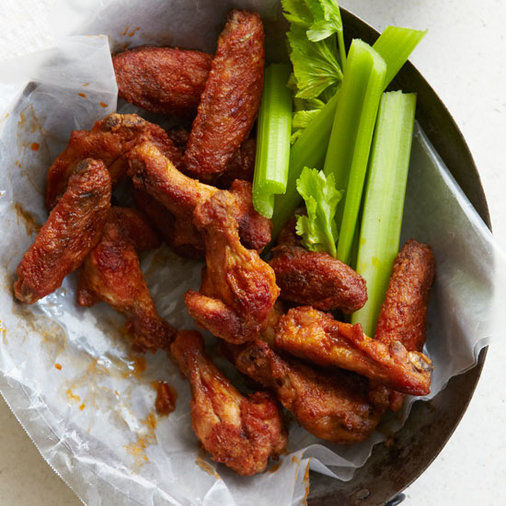 These are the best wings ever! - You can make these even in the rain because you make them in the oven. Easy - Contributed By Grace Parisi Photo © Raymond Hom