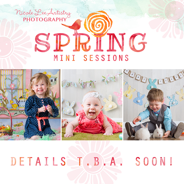 If you signed up to know all the details for Spring/Easter Mini sessions, check your inbox!  I just sent out the email with all the details!  Tomorrow I will announce on Facebook and my website, but I'm excited!  These are going to be colorful, bright, and fun!  Here's a teaser...