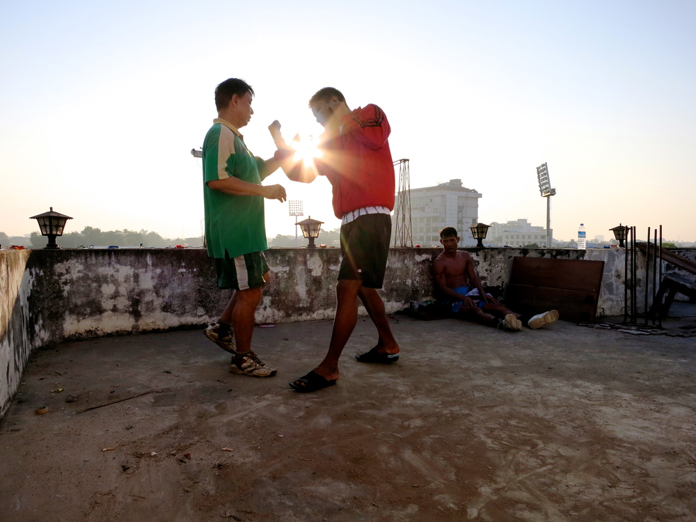Lethwei Fighters in Yangon.