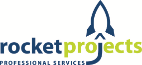 Rocket Projects Logo. A professional services company that only wants to be acknowledged for making a difference