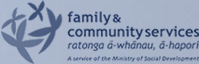 New Zealand Ministry of Social development, Family and Community Services logo, for being an ISO Capability Mentor