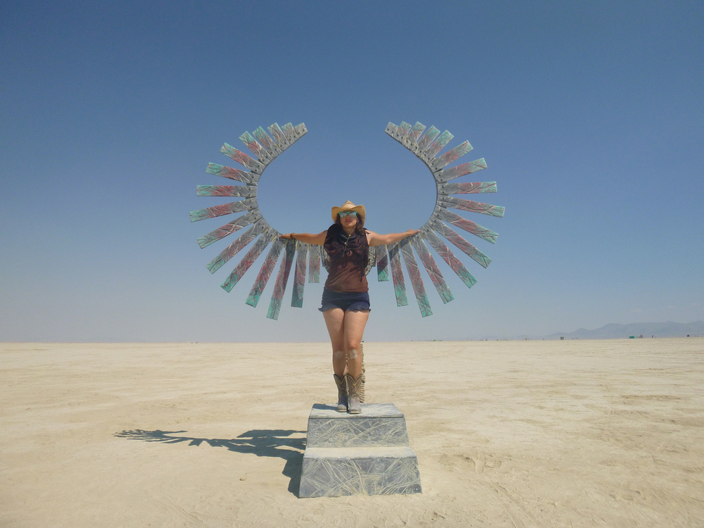 Phoenix (Tinenix??) on the playa, circa Burning Man 2014