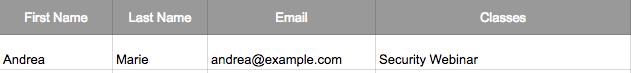 MailChimp Subscriber Record Pre-Update - AmazingAndrea.com