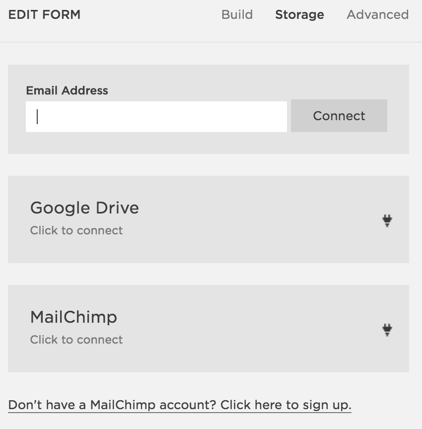 Add MailChimp to Squarespace
